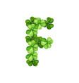 letter f clover ornament vector image