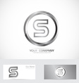 Letter S silver ring logo vector image vector image