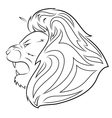 Lion head 5 vector image vector image