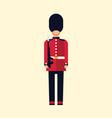london queens guard flat a vector image vector image