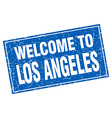 Los Angeles blue square grunge welcome to stamp vector image vector image
