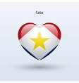Love Saba symbol Heart flag icon vector image vector image
