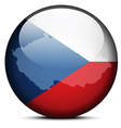 Map on flag button of Czech Republic vector image vector image