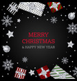 merry christmas background silver red wallpaper vector image vector image