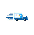 mobile delivery logo icon design vector image