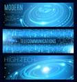 modern technology high tech and telecommunication vector image