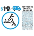 Moving Men Icon with 1000 Medical Business vector image vector image