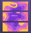 multicolored abstract layout - set modern vector image