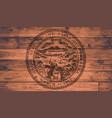 nebraska state flag brand vector image vector image