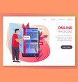 online magazine internet library shop web banner vector image vector image