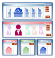 Online shopping interface vector image