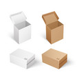 packages and boxes with opened cap set vector image vector image