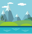 pastoral landscape with mountains and trees vector image