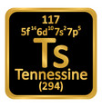 periodic table element tennessine icon vector image vector image