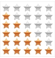 Ratings Stars on white background Adobe vector image