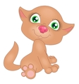 red kitten vector image vector image