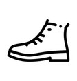 repaired shoe icon outline vector image vector image