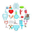 retreat icons set cartoon style vector image vector image