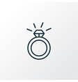ring icon line symbol premium quality isolated vector image