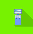 self service kiosk icon flat style vector image vector image