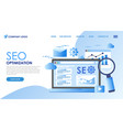 seo optimiaztion mobile apps business solutions vector image vector image