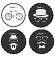 Set of hipster labels vector image vector image
