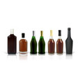 set photo-realistic whiskey cognac and scotch vector image