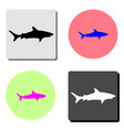 shark flat icon vector image