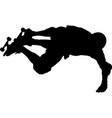 skateboarder doing stunts vector image