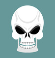 Skull with grin skeleton head isolated cranium in vector image vector image