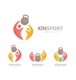 sport and people logo combination Fitness vector image vector image