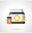 sports nutrition containers flat color icon vector image vector image