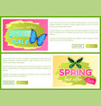 spring best offer sale stickers online voucher set vector image