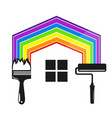 symbol for painting a house tool vector image vector image