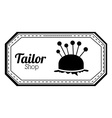 Tailor shop design vector image