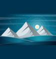travel night cartoon landscape fi mountain vector image vector image