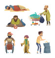 unhappy dirty poor and desperate peoples vector image
