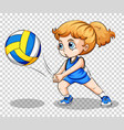 volleyball player on transparent background vector image