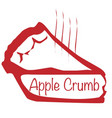 warm apple crumb pie vector image vector image