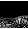 Wavy halftone background for text eps10 vector image