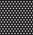 white dots on black background seamless pattern vector image vector image