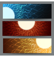 Abstract Colorful Banner Set vector image