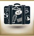 simple labeled suitcase vector image