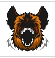 Head of laughing hyena vector image