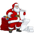 santa claus with a bag of gifts vector image