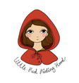 a cute little girl red riding hood fairy tale vector image vector image