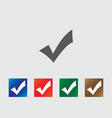Accept icons vector image vector image