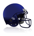American Football Helmet Isolated vector image