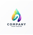 awesome gradient swan logo design vector image vector image