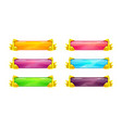 beautiful colorful long horizontal buttons vector image vector image